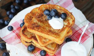 French Toast made with vegan egg