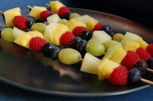 Frozen Fruit Kebabs