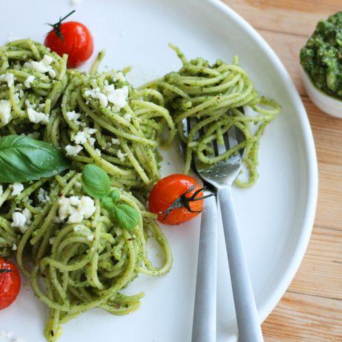Hazelnut Pesto Pasta