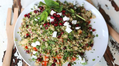 Herby Quinoa Salad with Pomegranate and 'Feta'