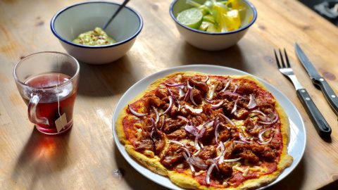 Mexican Jackfruit Flatbread Pizza