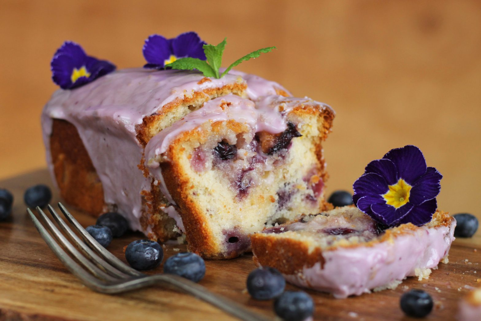 Vegan Blueberry Lemon Drizzle Cake