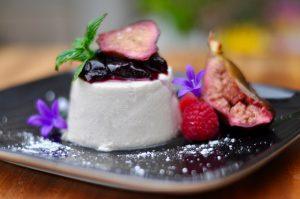 Lavender Panna Cotta with Caramelised Cinnamon Figs