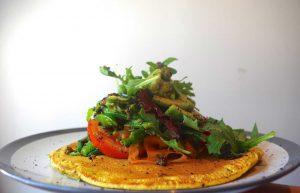 Thai Inspired Farinata with Green Bean Salad