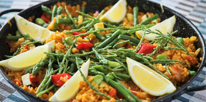 Vegan Paella with Samphire