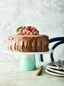 Two Layer Chocolate Fudge Cake