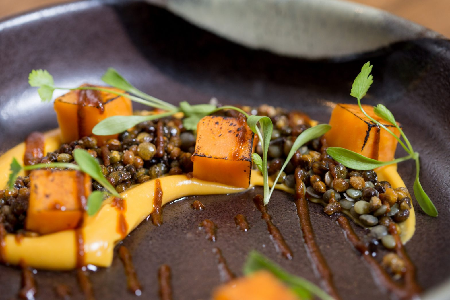 Gourmet Sweet Potato and Puy Lentil Dhal