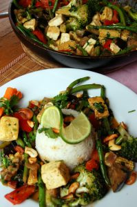 Thai Vegetable Curry with Optional Tofu for Caterers