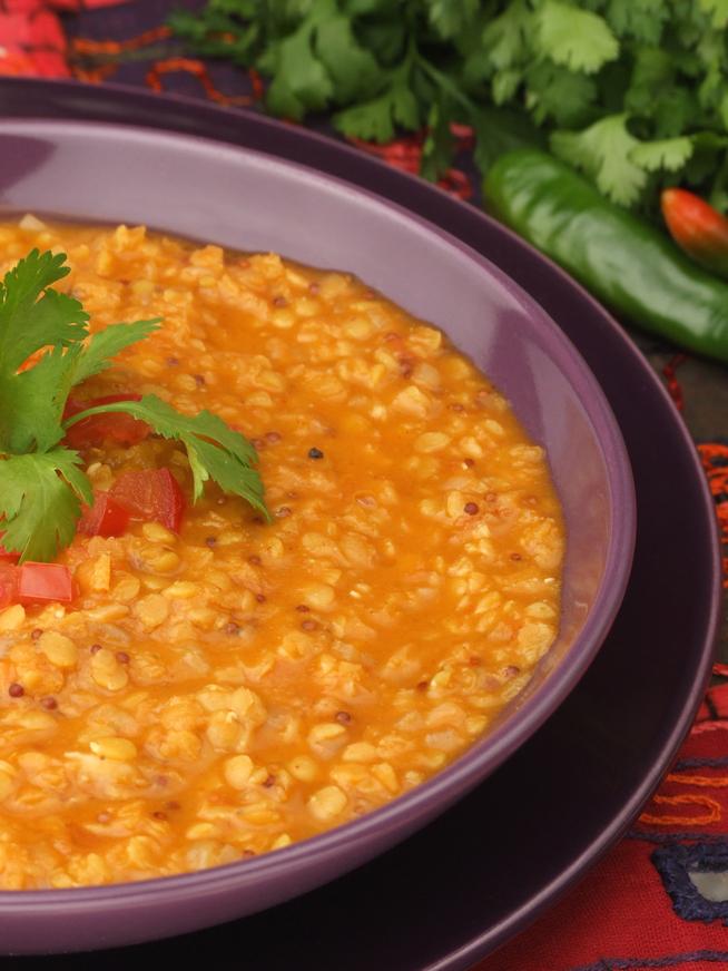 Quick Tomato & Lentil Dhal