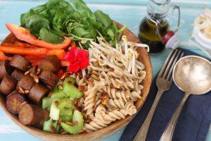 Sausage & Pasta Salad with Wholefood Option