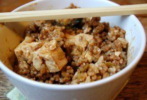 Szechuan Tofu with Veggie Beef