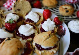Vegan Scones with Jam & Cream
