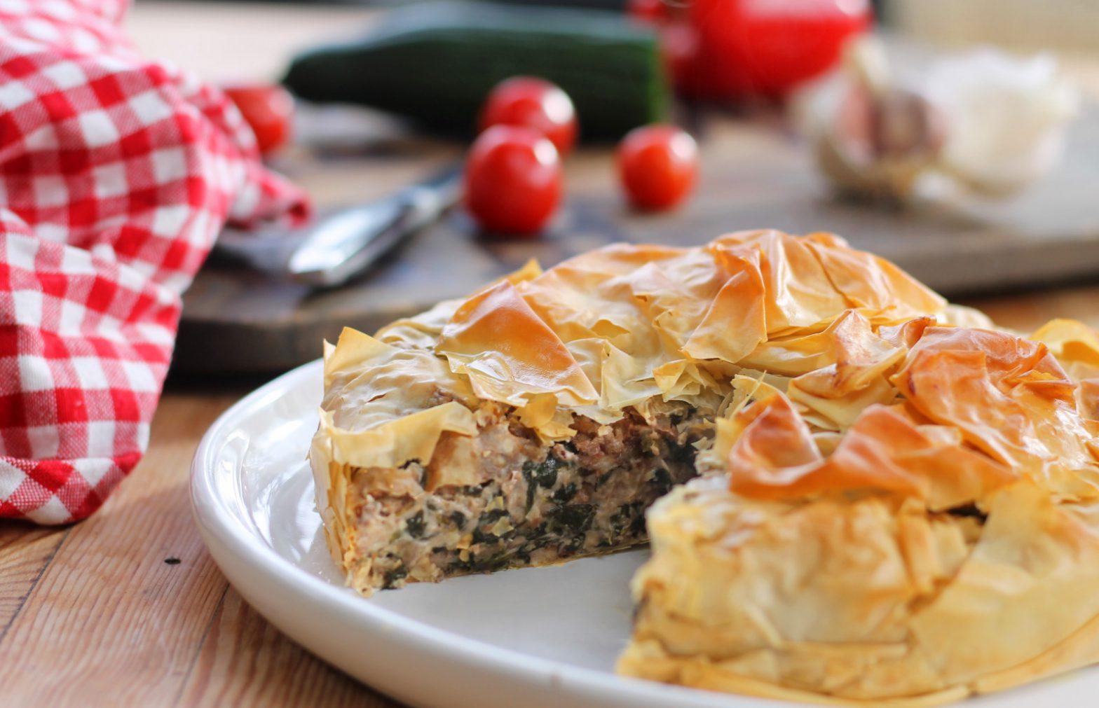 Vegan Spinach & Walnut 'Ricotta' Pie