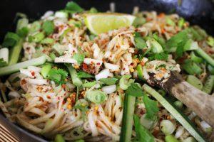 Street Noodle Salad with Peanut or Sesame Sauce