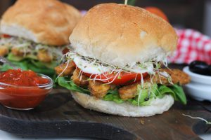 Super Stuffed Tempeh Sandwich
