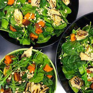 Sweet Potato & Artichoke Salad with Basil Oil