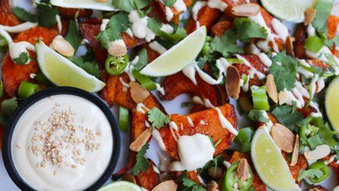 Roast Pumpkin Salad with Tahini Dressing