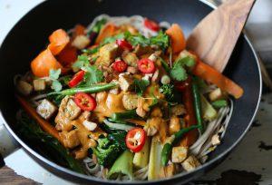 Tofu Tahini Stir Fry