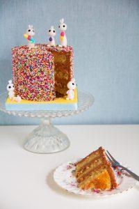 Bunny Vanilla Cake with Milk Chocolate Buttercream