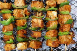 Tofu Tikka Kebabs