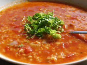 Tomato and Bulgur or Quinoa Soup
