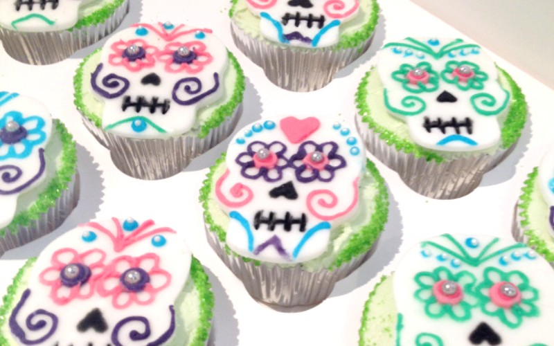 Day of the Dead Margarita Cupcakes