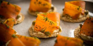 Vegan Gravlax with Smokey Carrots and Almond Cream Oatcakes