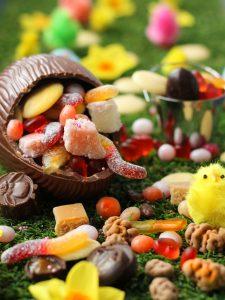 DIY Exploding Candy Vegan Easter Egg