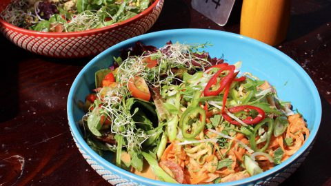 Courgette & Carrot Pad Thai Salad