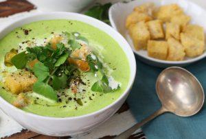 Quick Vegan Cream of Watercress Soup