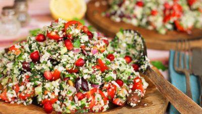 Cauliflower Tabbouleh with Lemon & Olive Oil Dressing