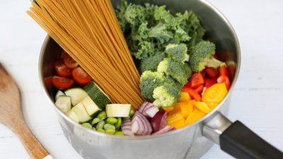 One Pot Rainbow Pasta